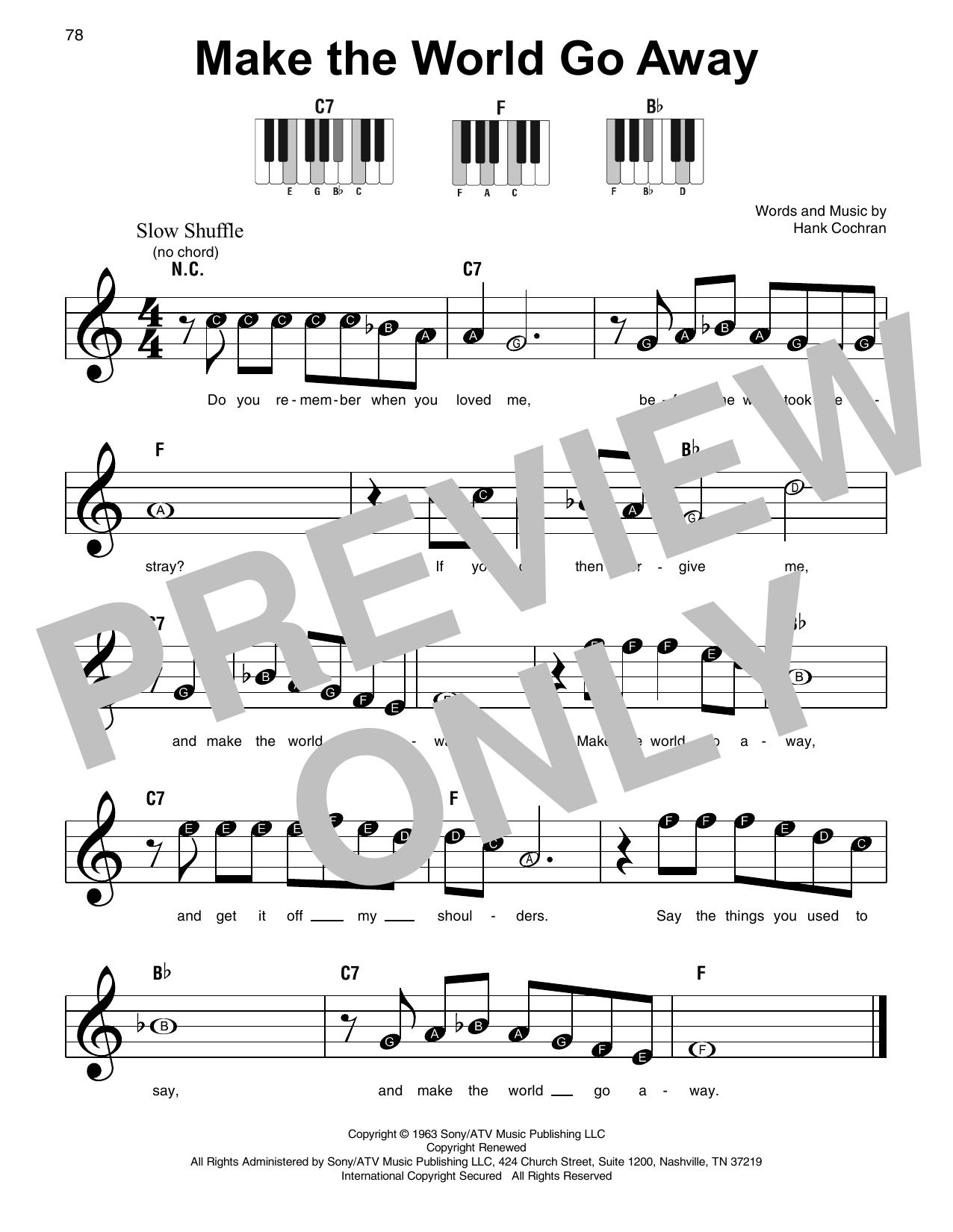 Make The World Go Away (Super Easy Piano)