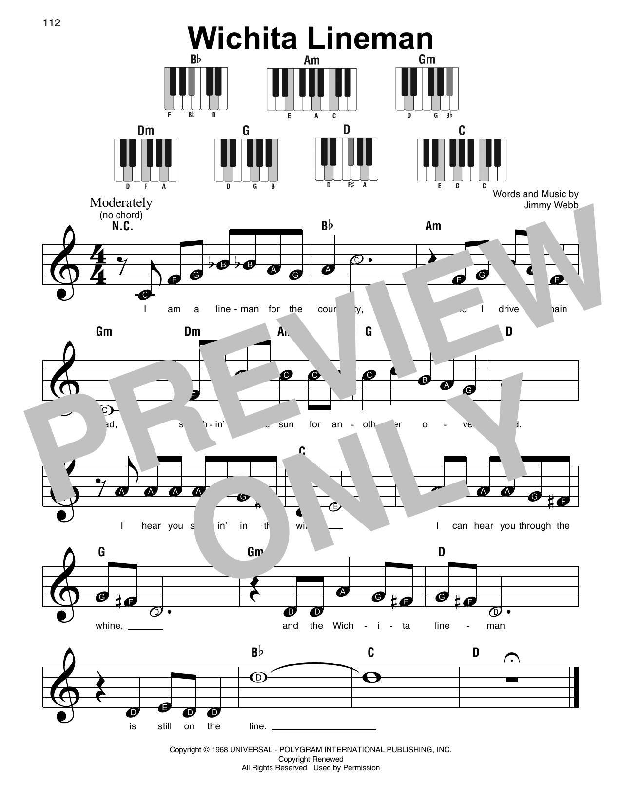 Wichita Lineman (Super Easy Piano)