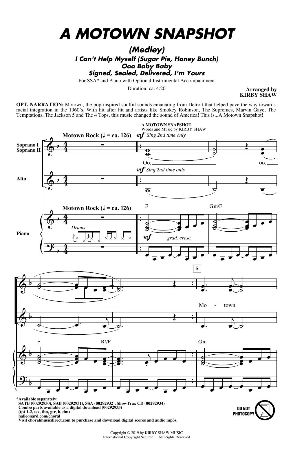 A Motown Snapshot (Medley) (SSA Choir)