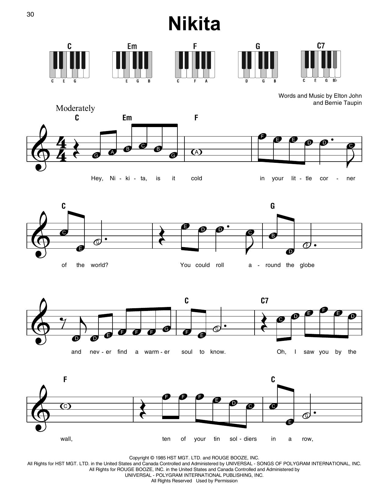 Nikita (Super Easy Piano)