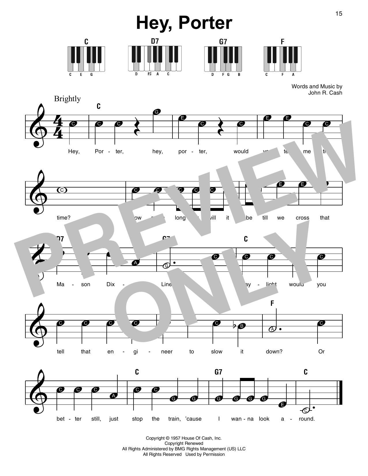 Hey, Porter (Super Easy Piano)