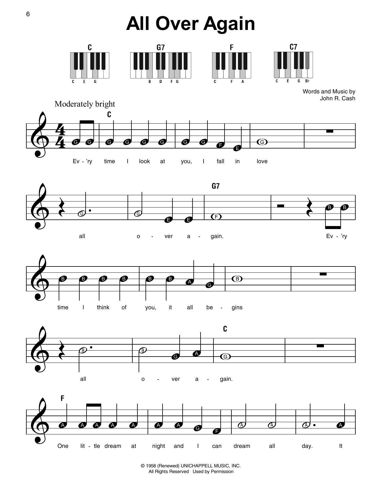 All Over Again (Super Easy Piano)
