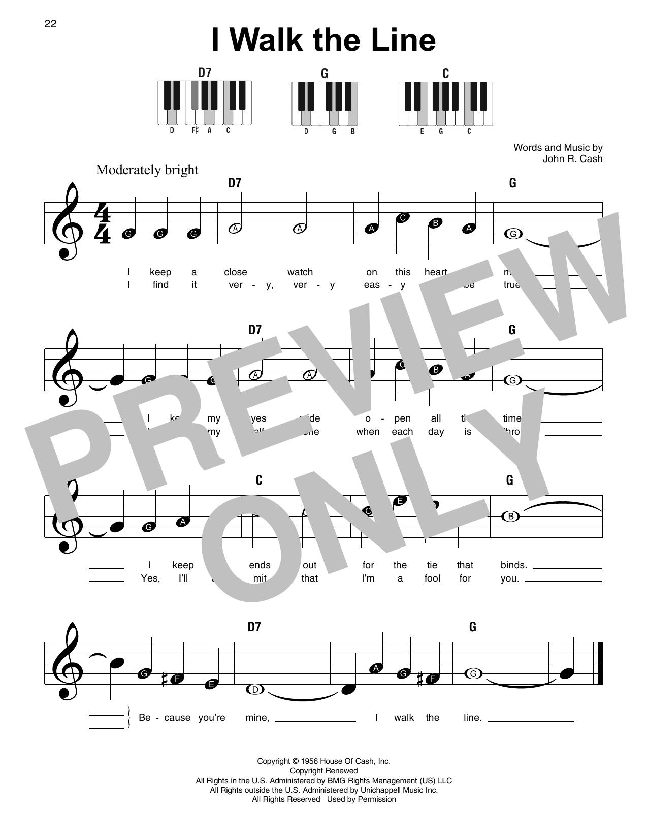 I Walk The Line (Super Easy Piano)