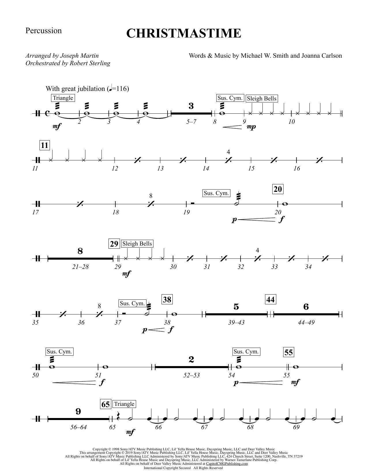 Christmastime (arr. Joseph M. Martin) - Percussion (Choir Instrumental Pak)
