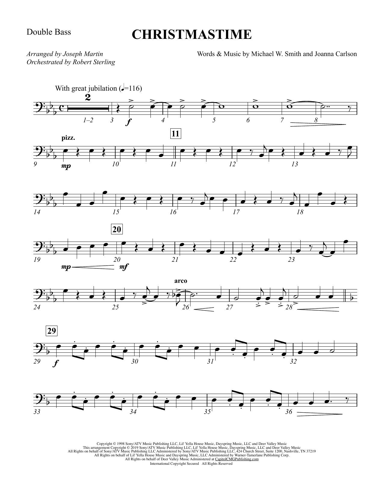 Christmastime (arr. Joseph M. Martin) - Double Bass (Choir Instrumental Pak)