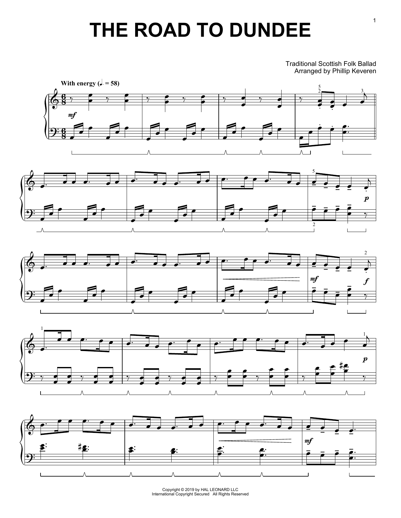 The Road To Dundee (arr. Phillip Keveren) (Piano Solo)