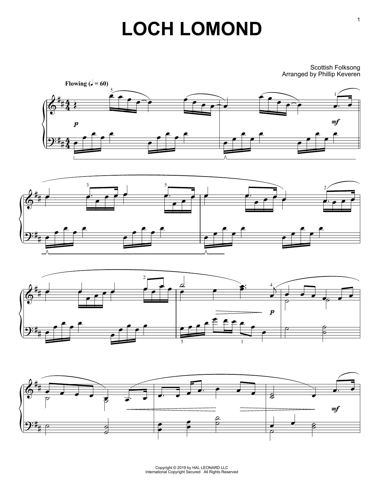 Loch Lomond (arr. Phillip Keveren) (Piano Solo)