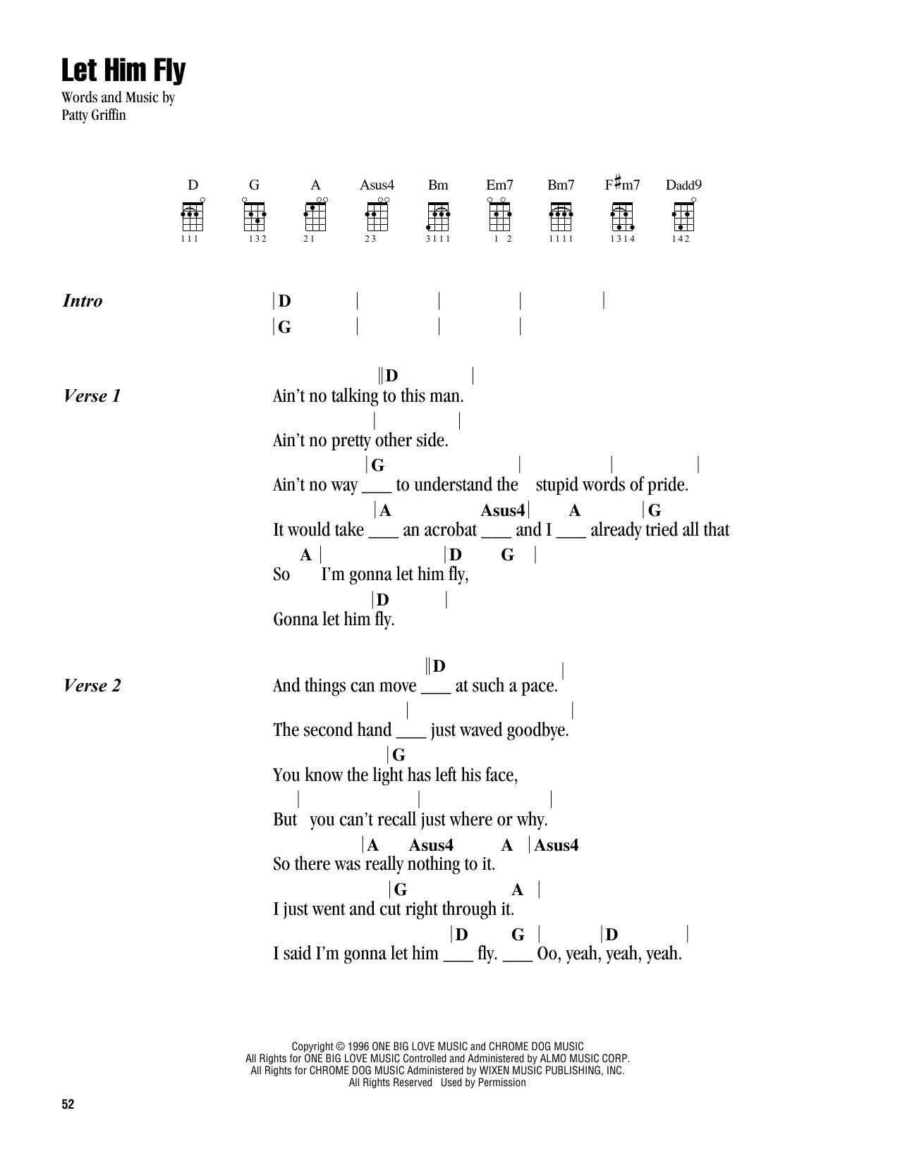 Let Him Fly (Ukulele Chords/Lyrics)