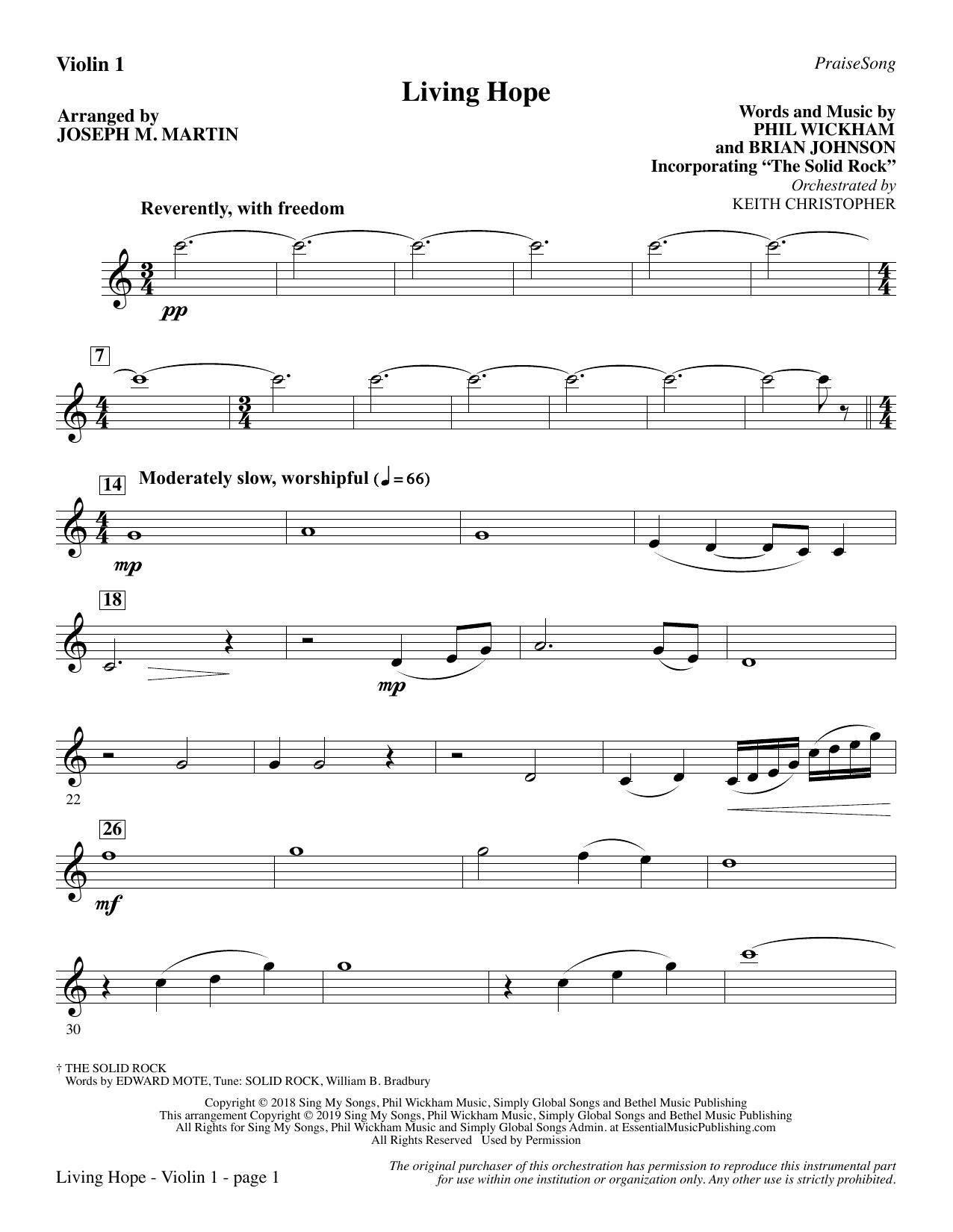 Living Hope (arr. Joseph M. Martin) - Violin 1 Sheet Music