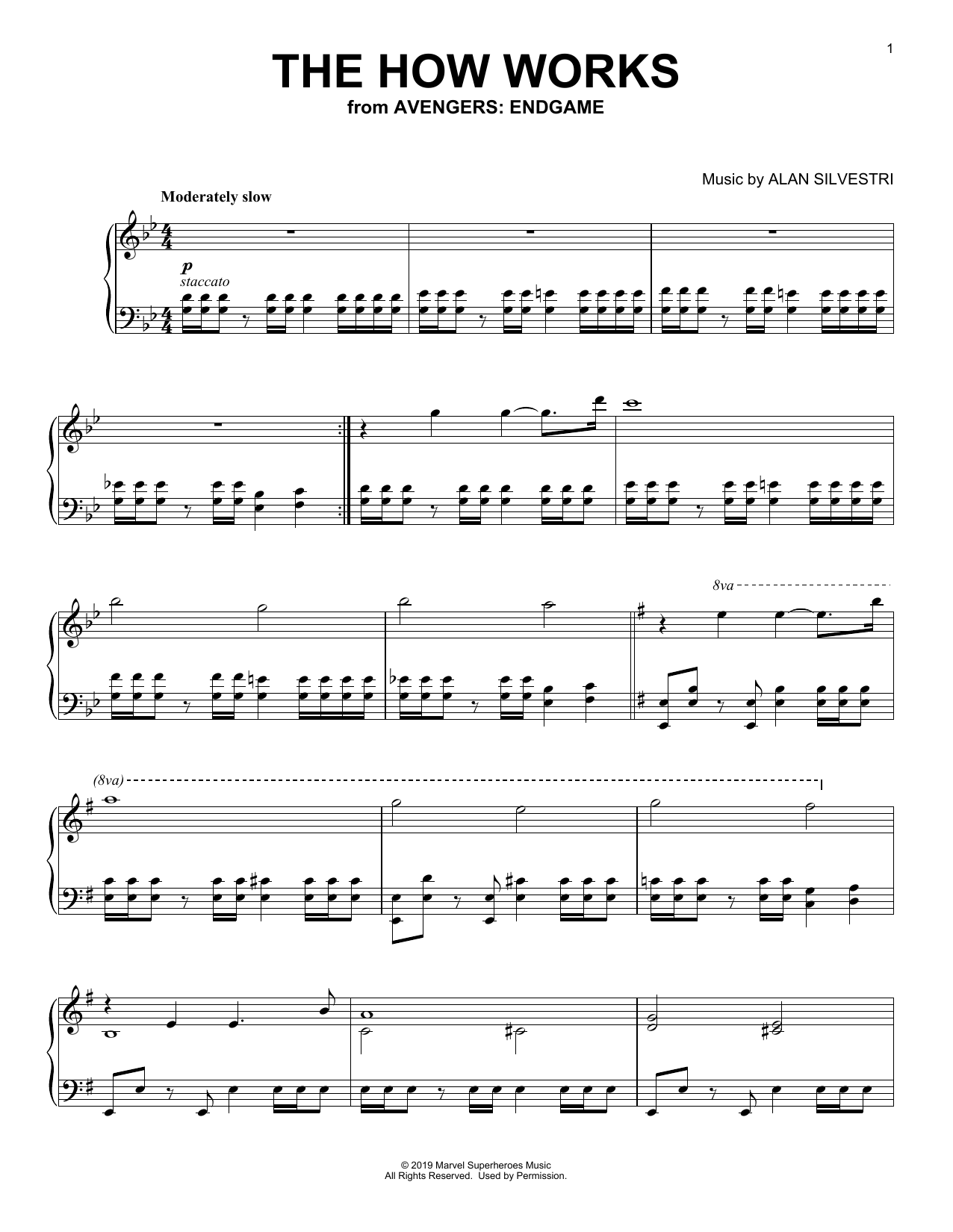 The How Works (from Avengers: Endgame) (Piano Solo)