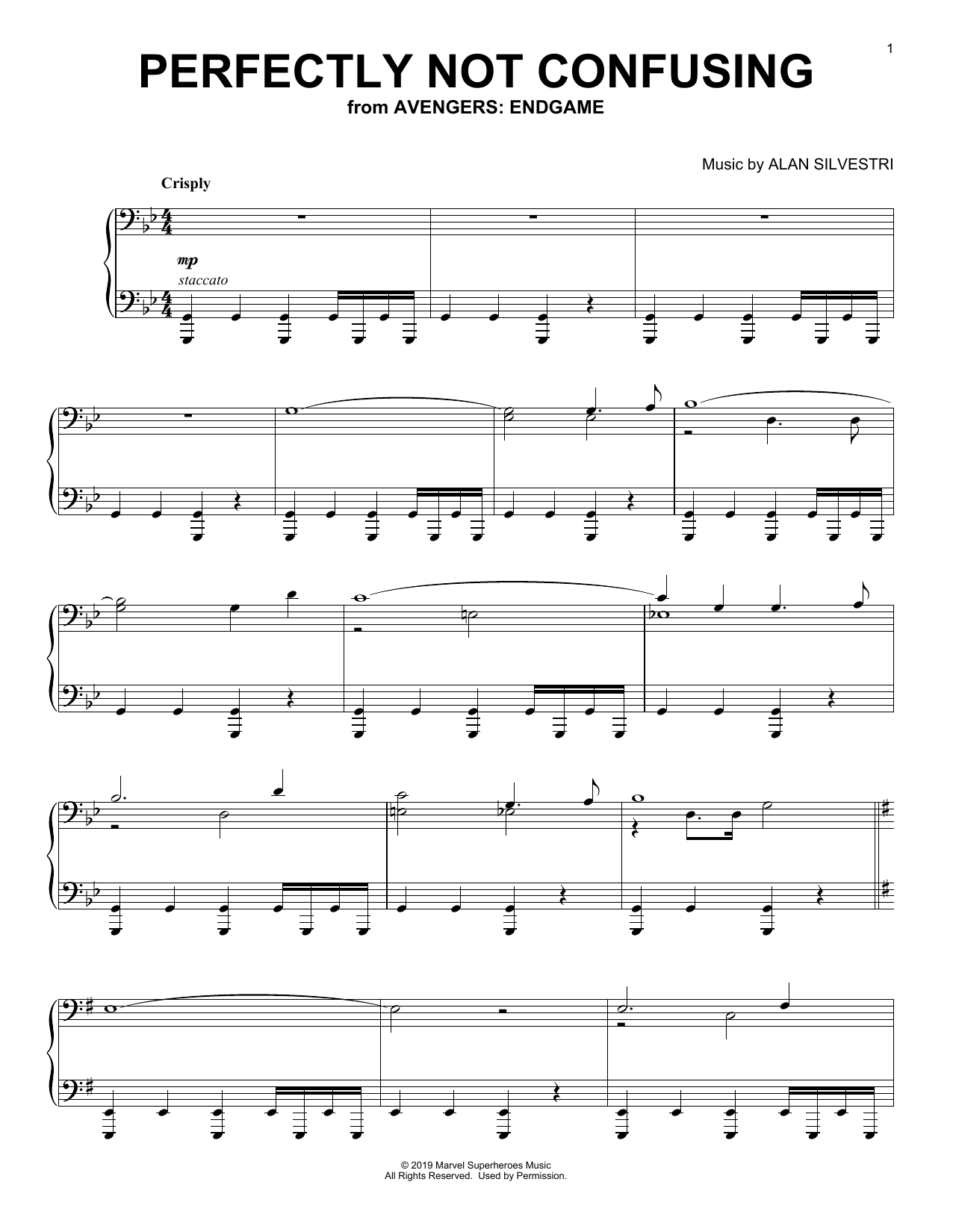 Perfectly Not Confusing (from Avengers: Endgame) (Piano Solo)