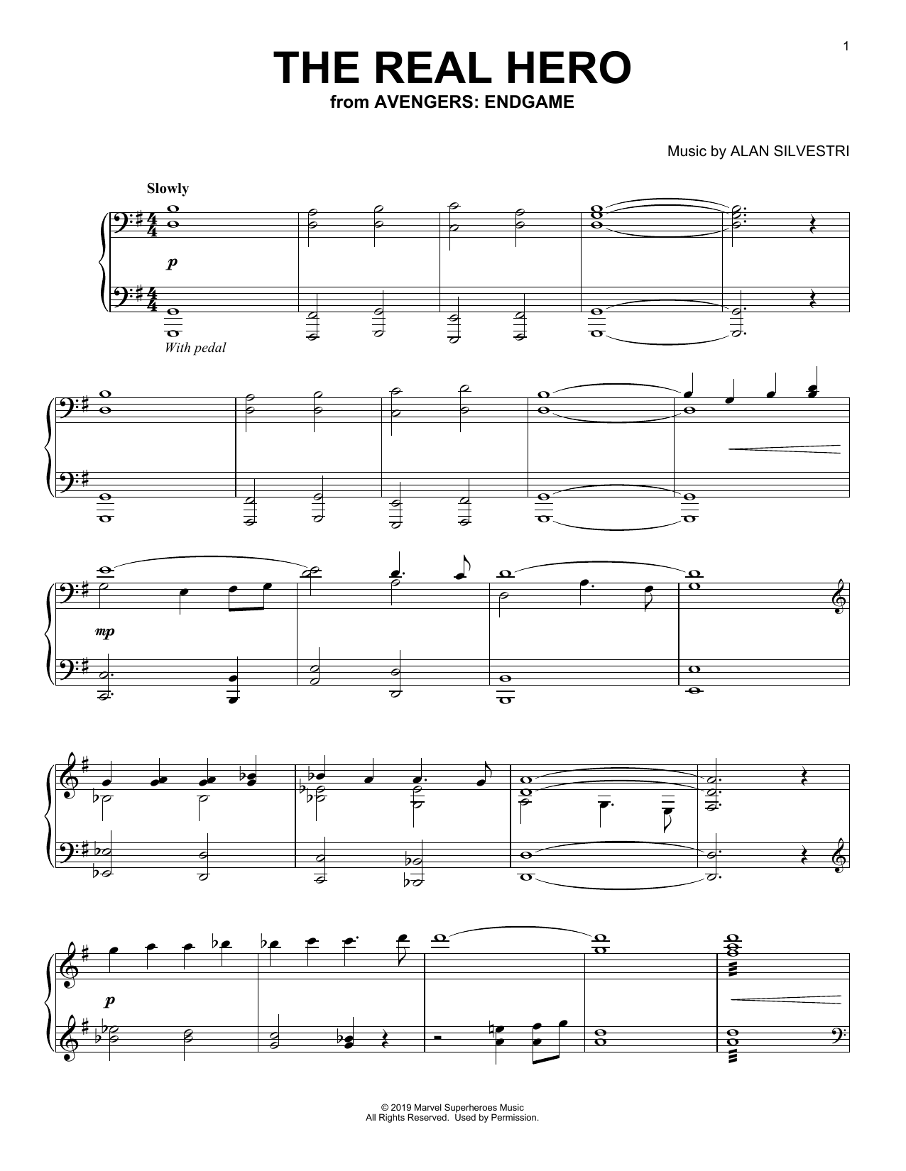 The Real Hero (from Avengers: Endgame) (Piano Solo)