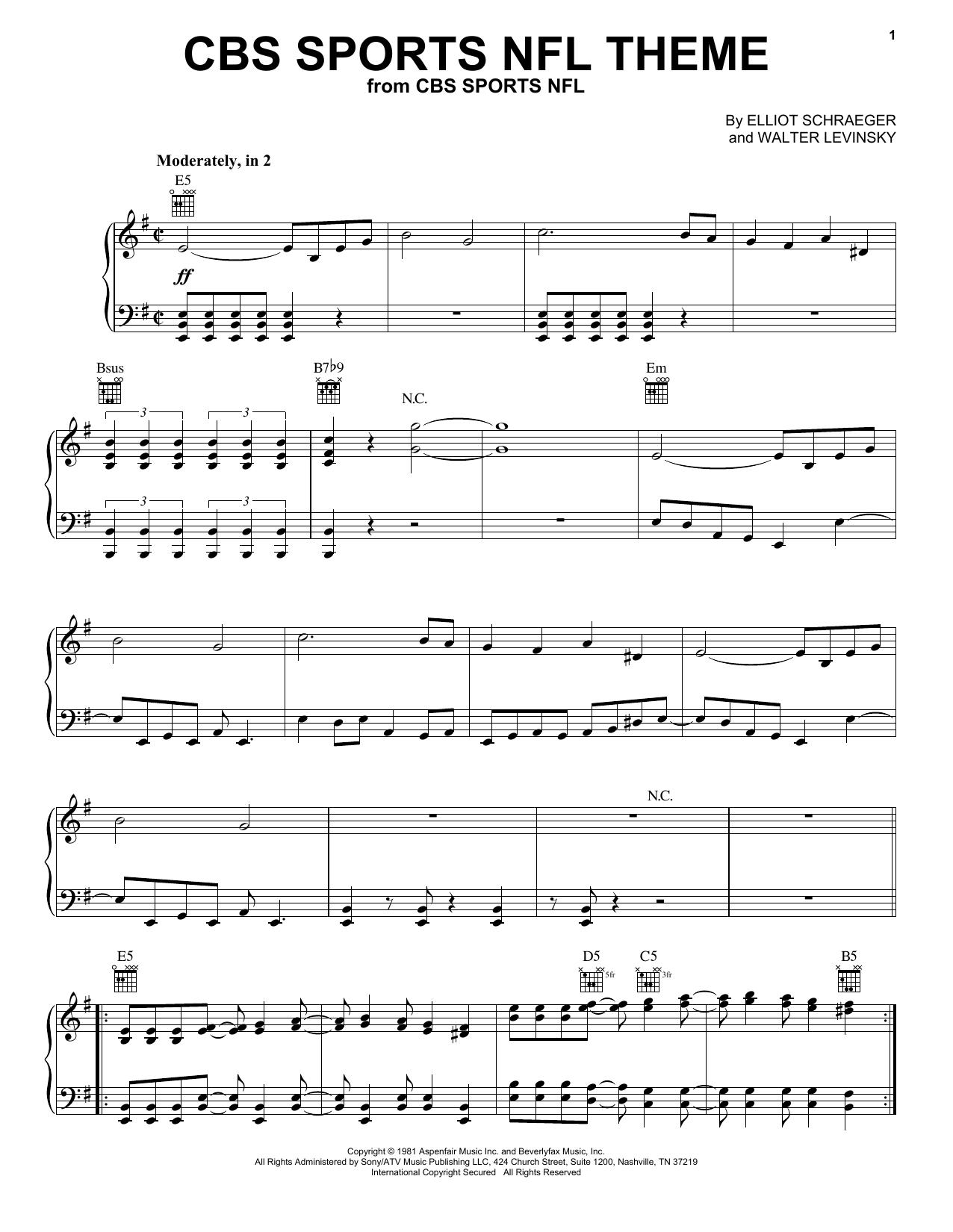 CBS Sports NFL Theme (Piano Solo)