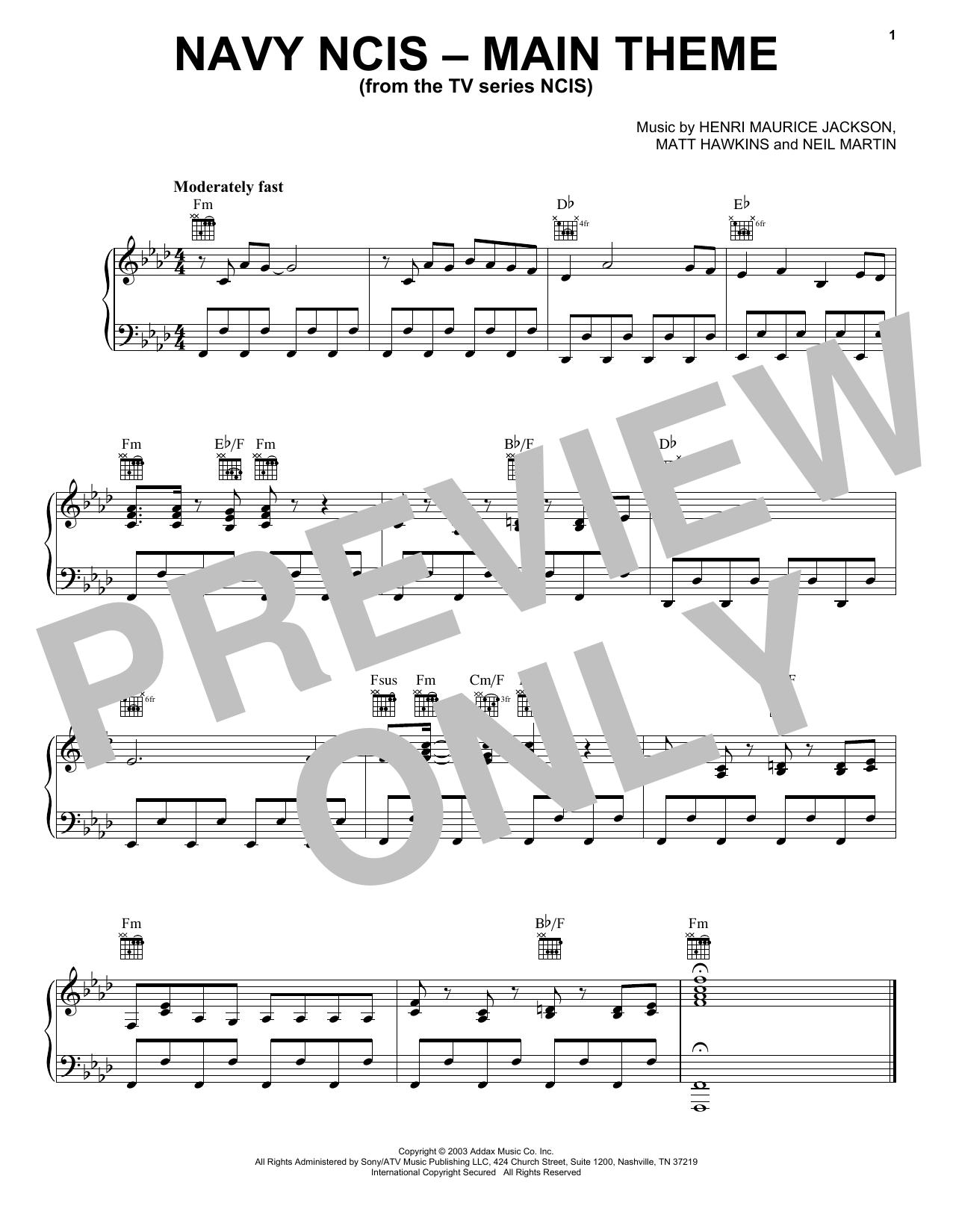 Navy NCIS (Main Theme) (Piano Solo)
