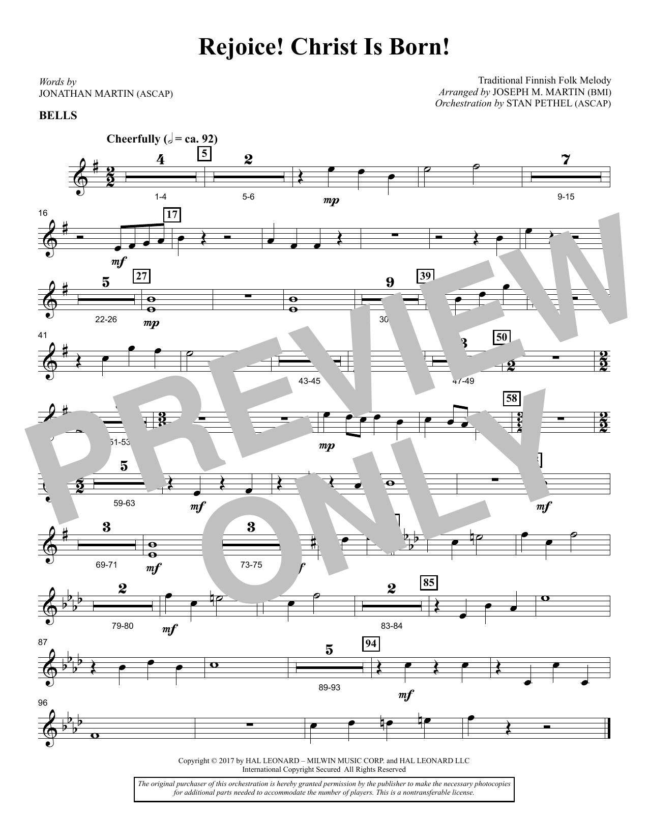 Rejoice! Christ Is Born! - Bells (Choir Instrumental Pak)