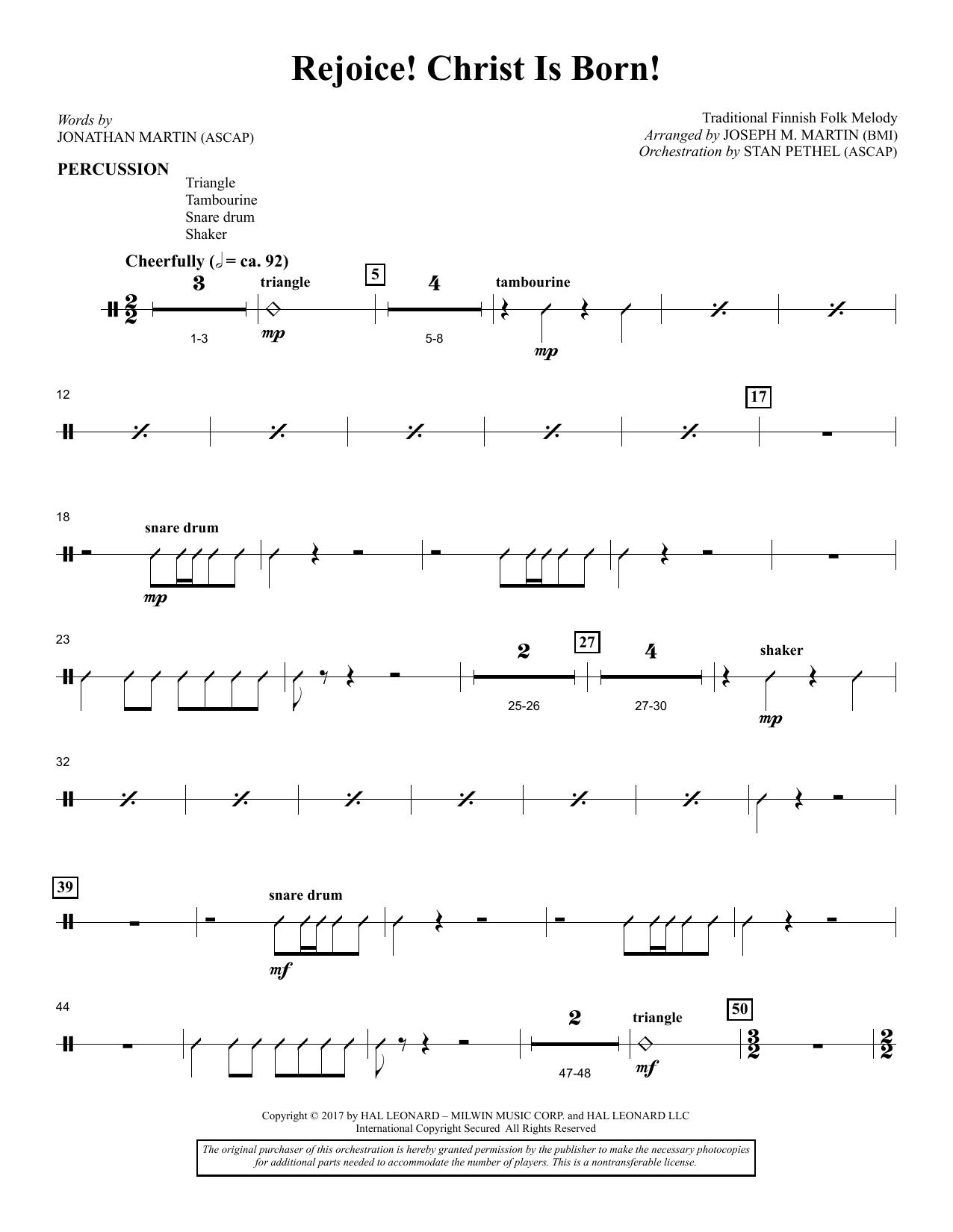 Rejoice! Christ Is Born! - Percussion (Choir Instrumental Pak)