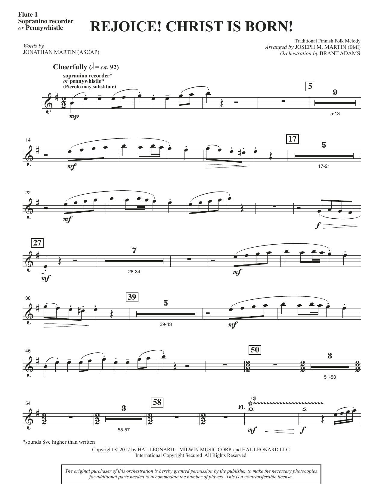 Rejoice! Christ Is Born! - Flute 1 (Choir Instrumental Pak)