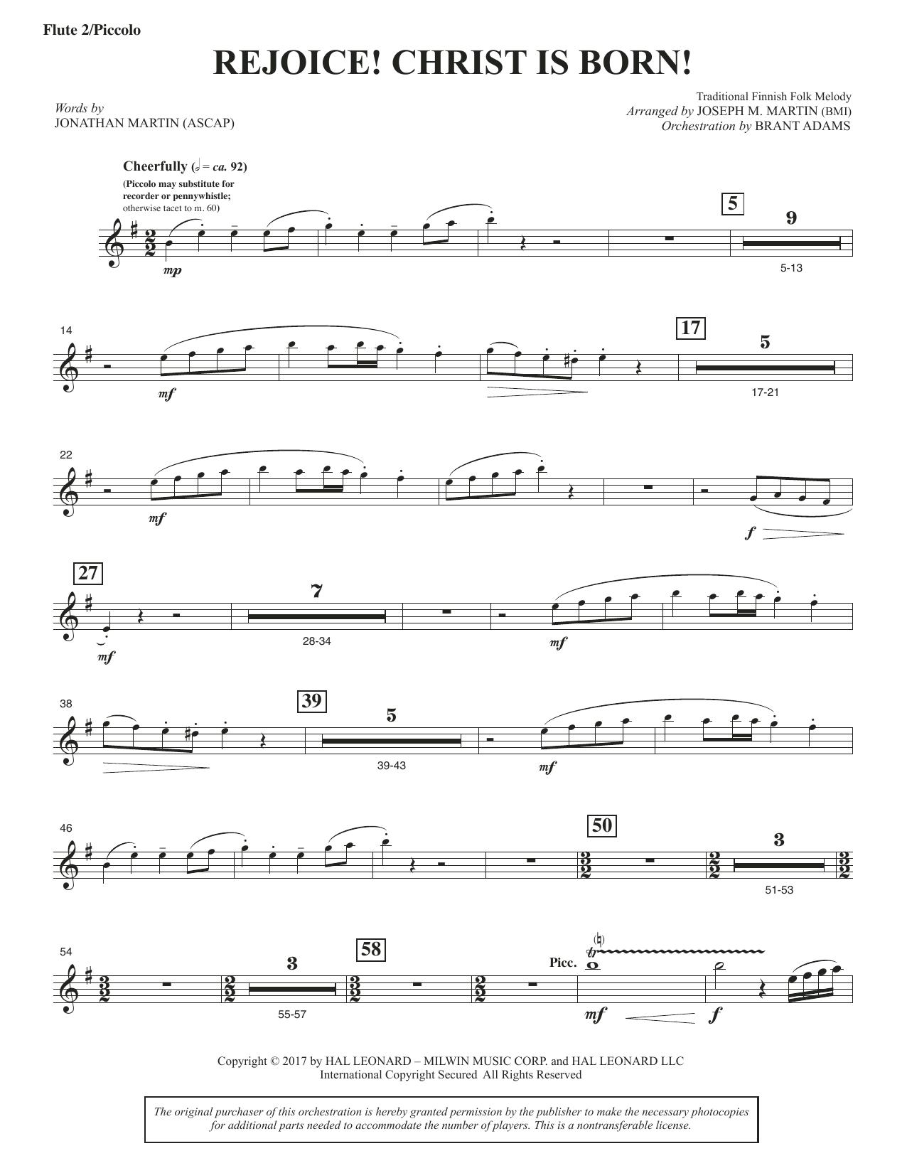 Rejoice! Christ Is Born! - Flute 2 (Piccolo) (Choir Instrumental Pak)