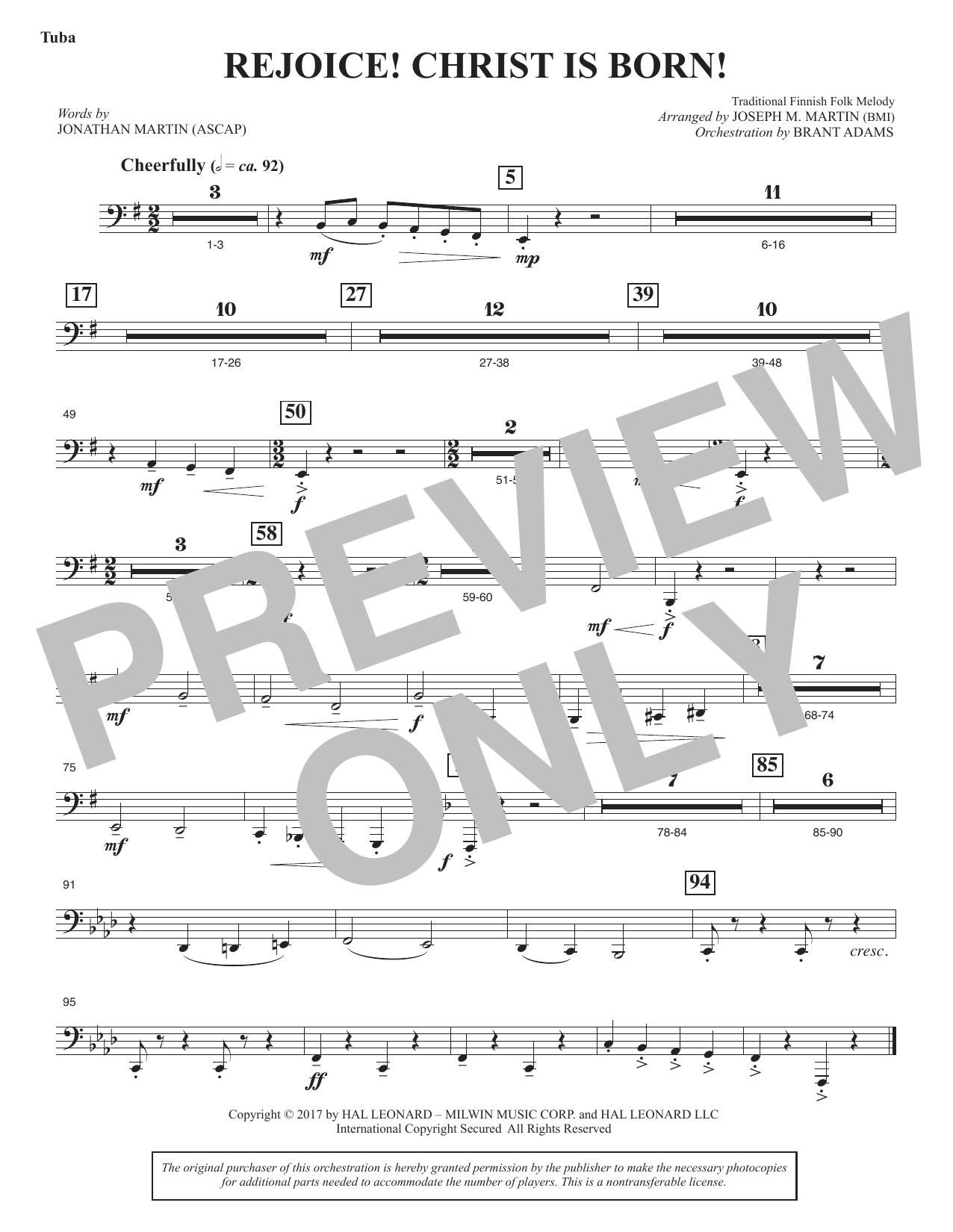 Rejoice! Christ Is Born! - Tuba (Choir Instrumental Pak)