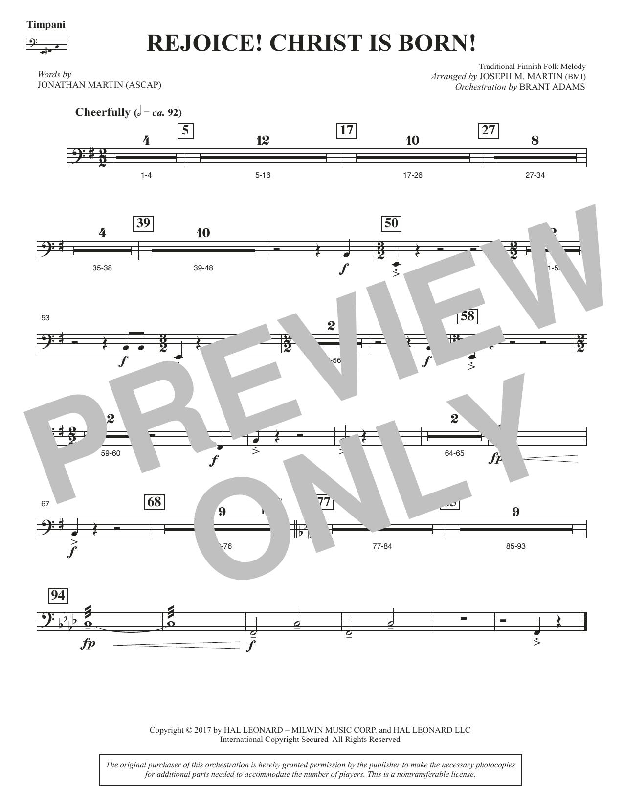Rejoice! Christ Is Born! - Timpani (Choir Instrumental Pak)