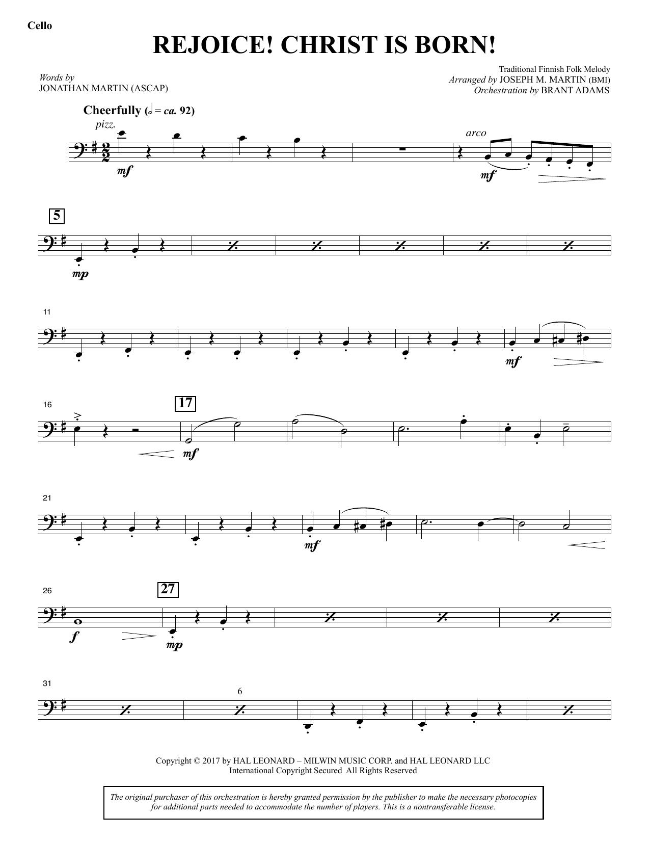 Rejoice! Christ Is Born! - Cello (Choir Instrumental Pak)