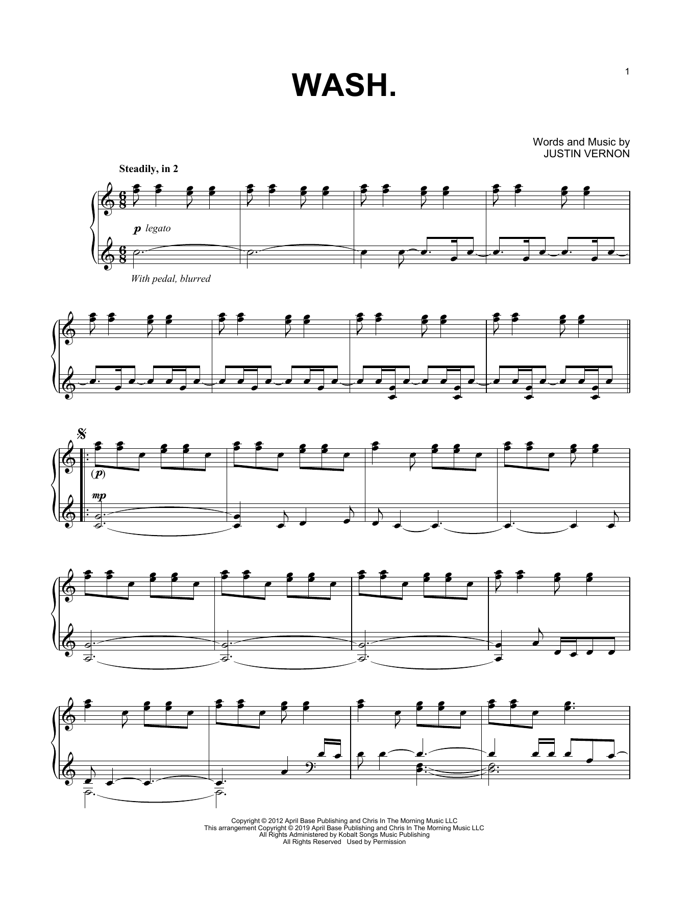 Wash. (Piano Solo)