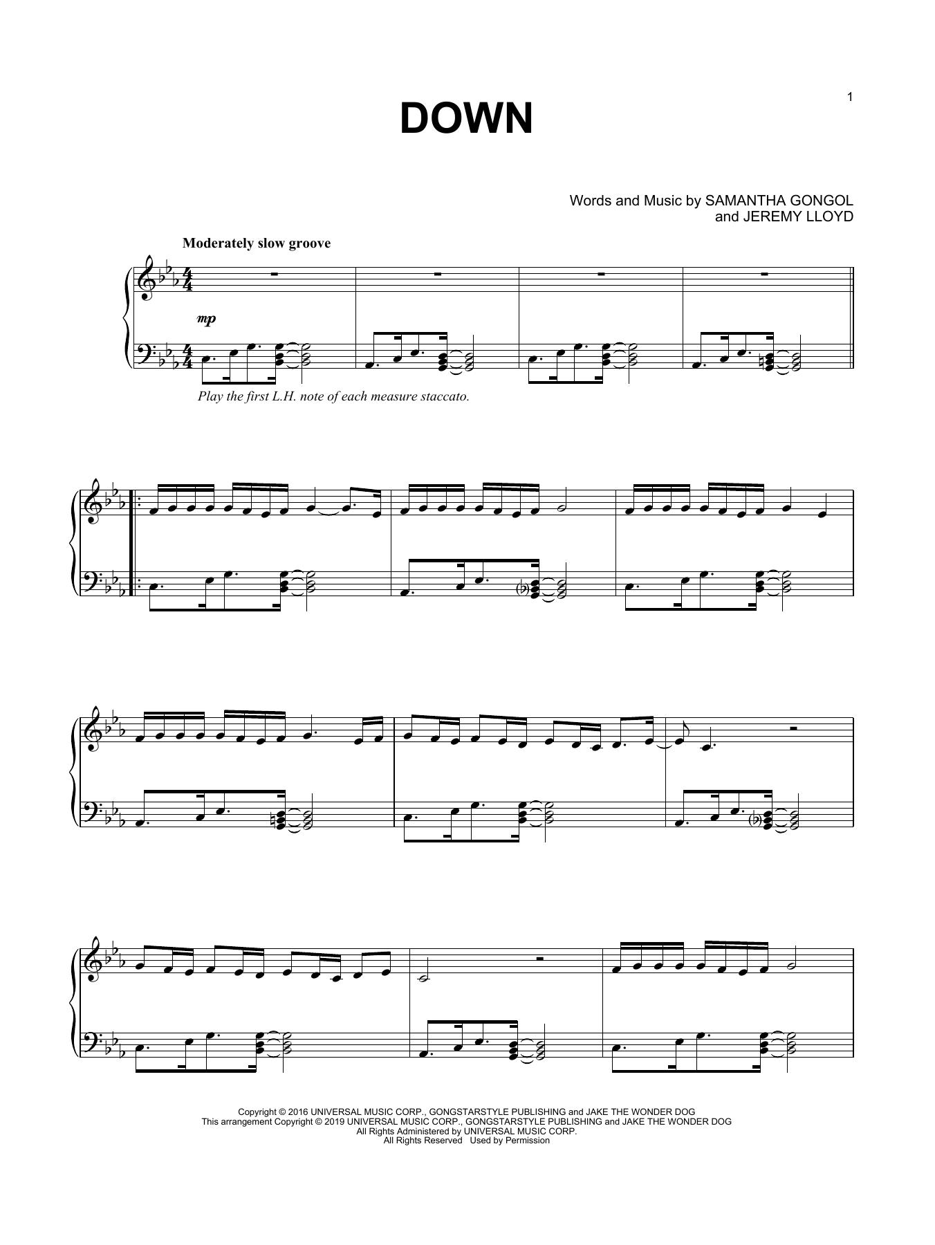 Down (Piano Solo)
