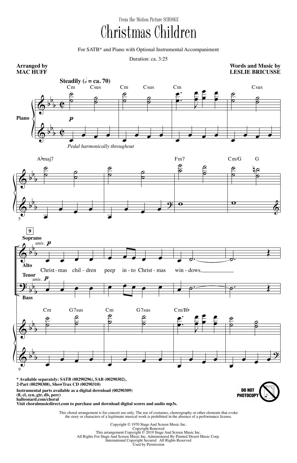 Christmas Children (from Scrooge) (arr. Mac Huff) Sheet Music