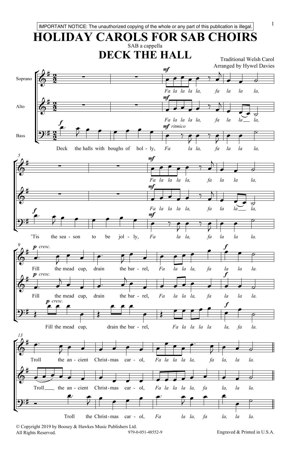 Holiday Carols for SAB Choirs (SAB Choir)