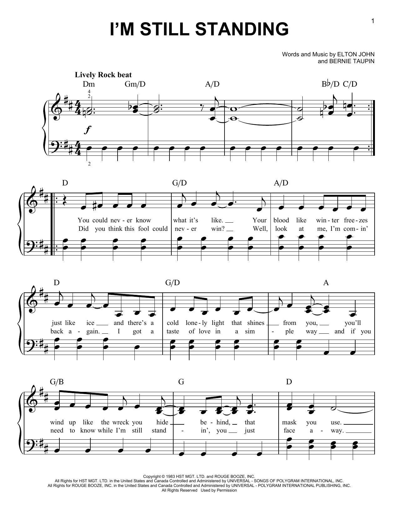 I'm Still Standing (from Rocketman) (Easy Piano)