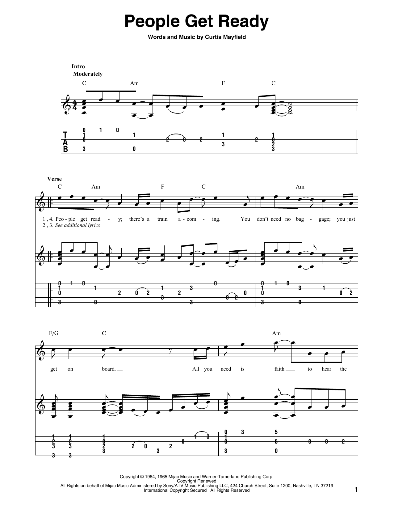 People Get Ready (Solo Guitar Tab)