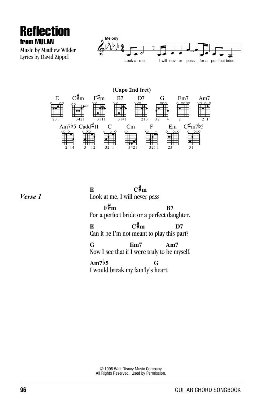 Reflection (from Mulan) Sheet Music