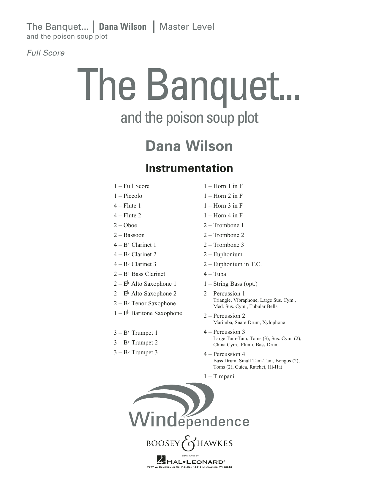 The Banquet...and the poison soup plot - Conductor Score (Full Score) (Concert Band)