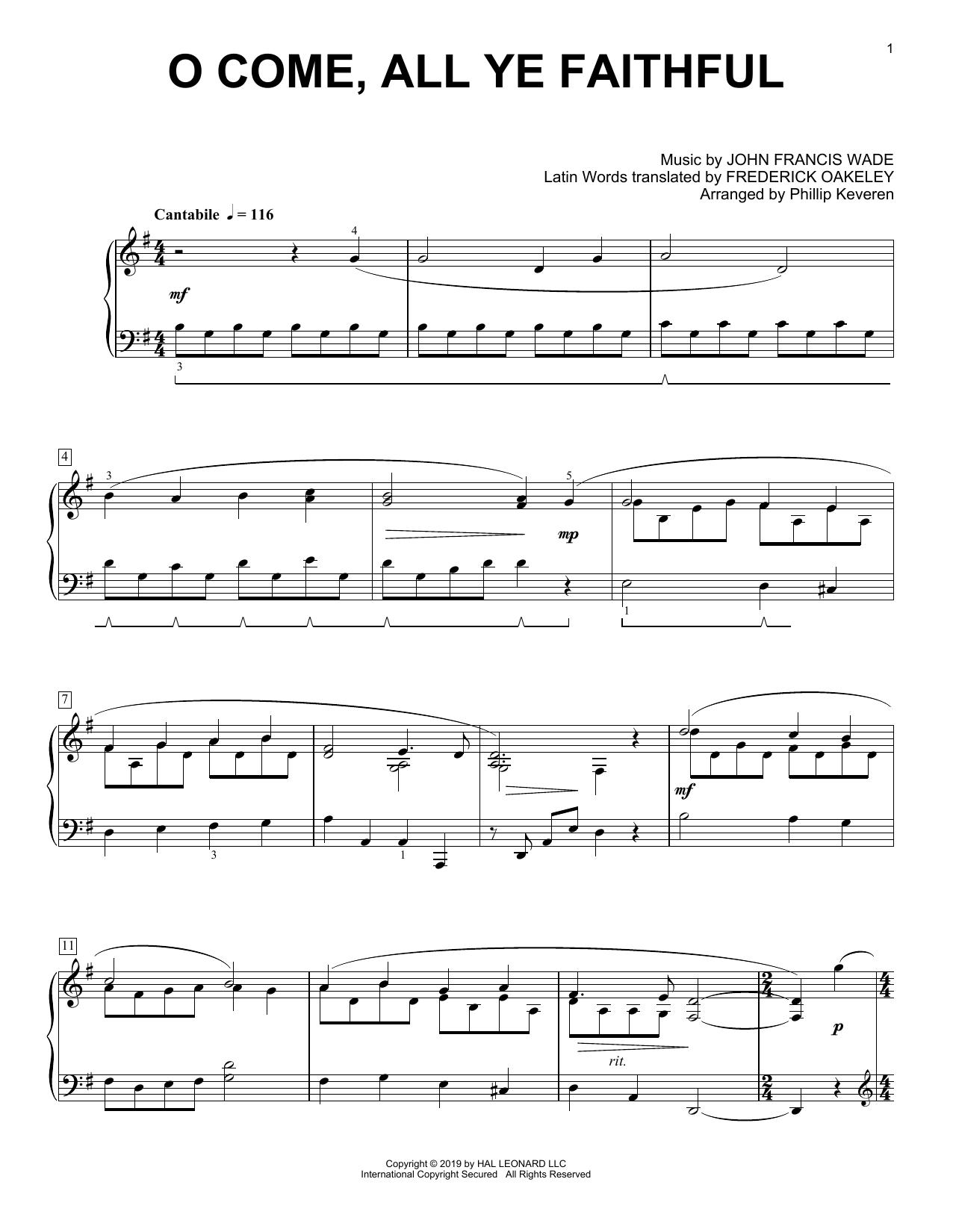 O Come, All Ye Faithful [Classical version] (arr. Phillip Keveren) (Piano Solo)