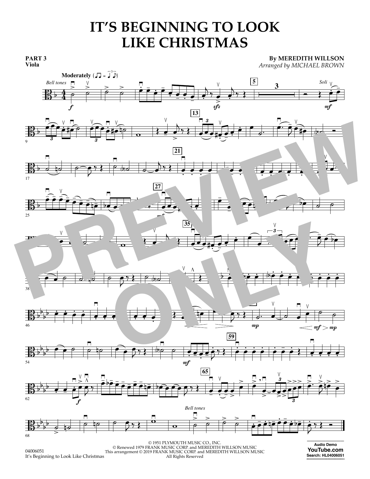 It's Beginning to Look Like Christmas (arr. Michael Brown) - Pt.3 - Viola (Flex-Band)