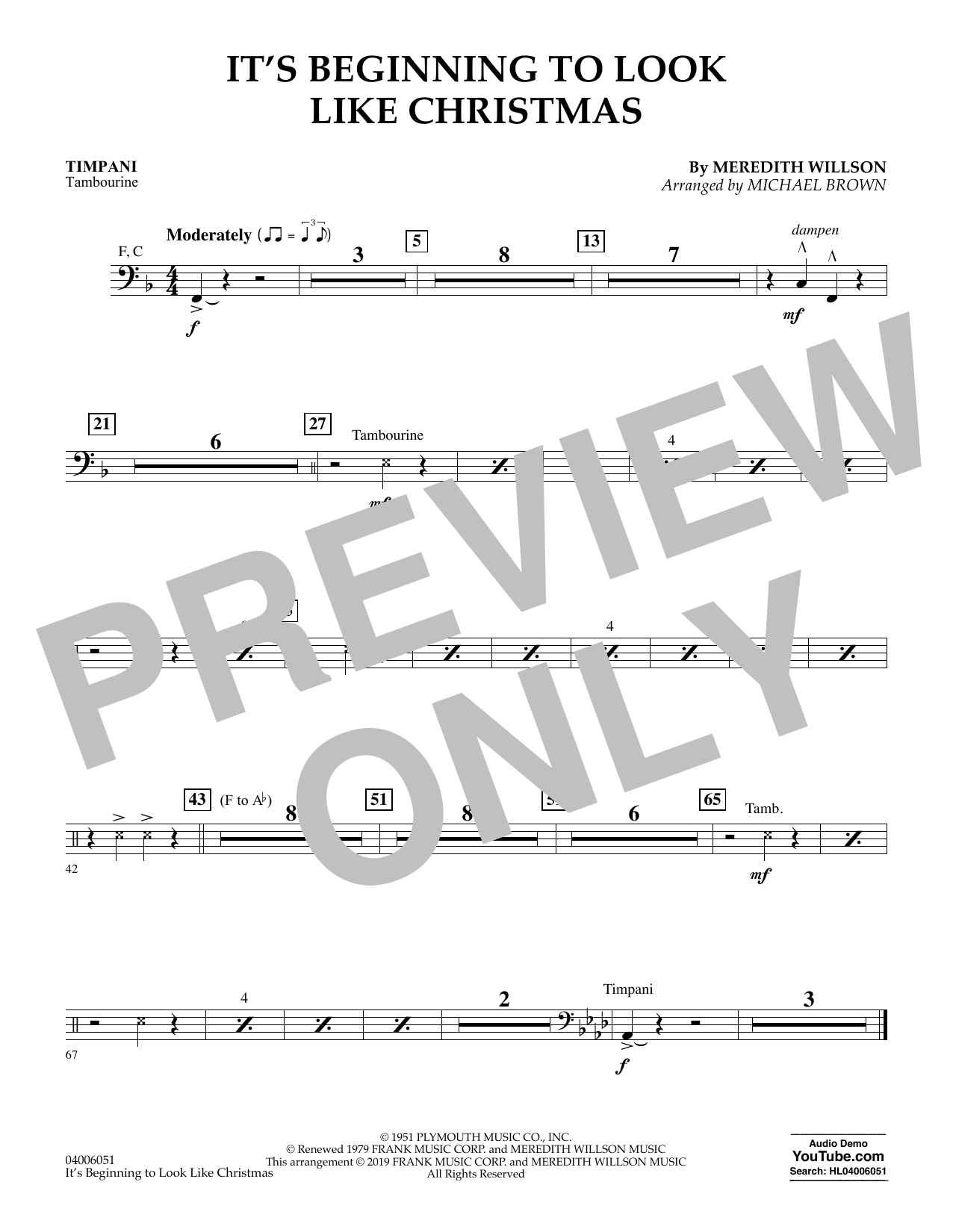 It's Beginning to Look Like Christmas (arr. Michael Brown) - Timpani (Flex-Band)