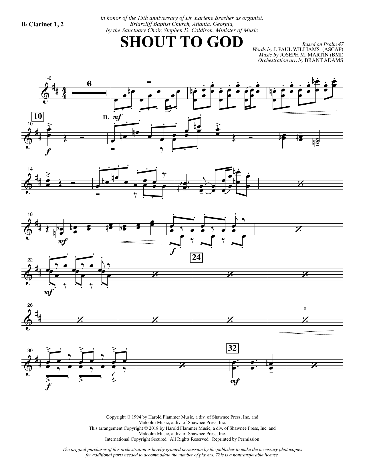 Shout to God - Bb Clarinet 1 & 2 Sheet Music