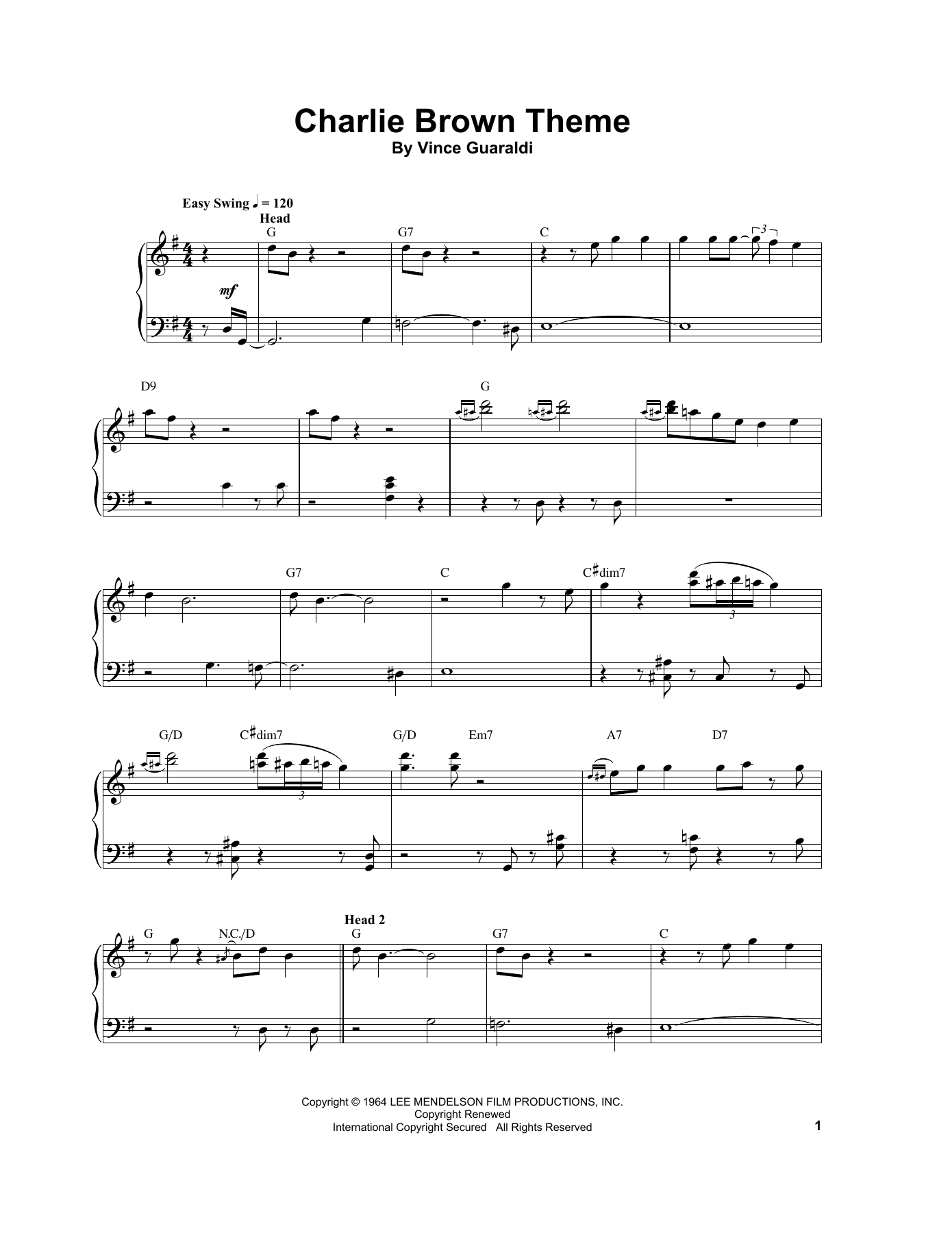 Charlie Brown Theme (Piano Transcription)