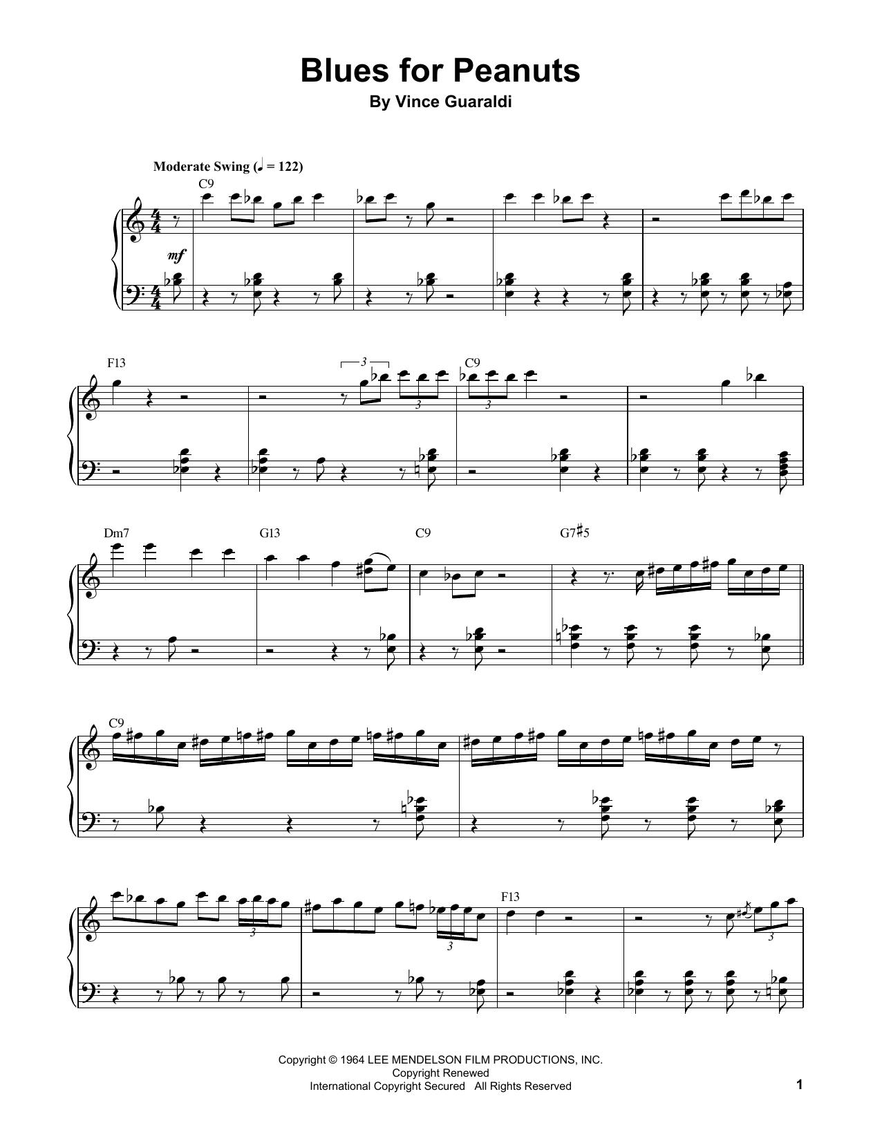 Blues For Peanuts (Piano Transcription)