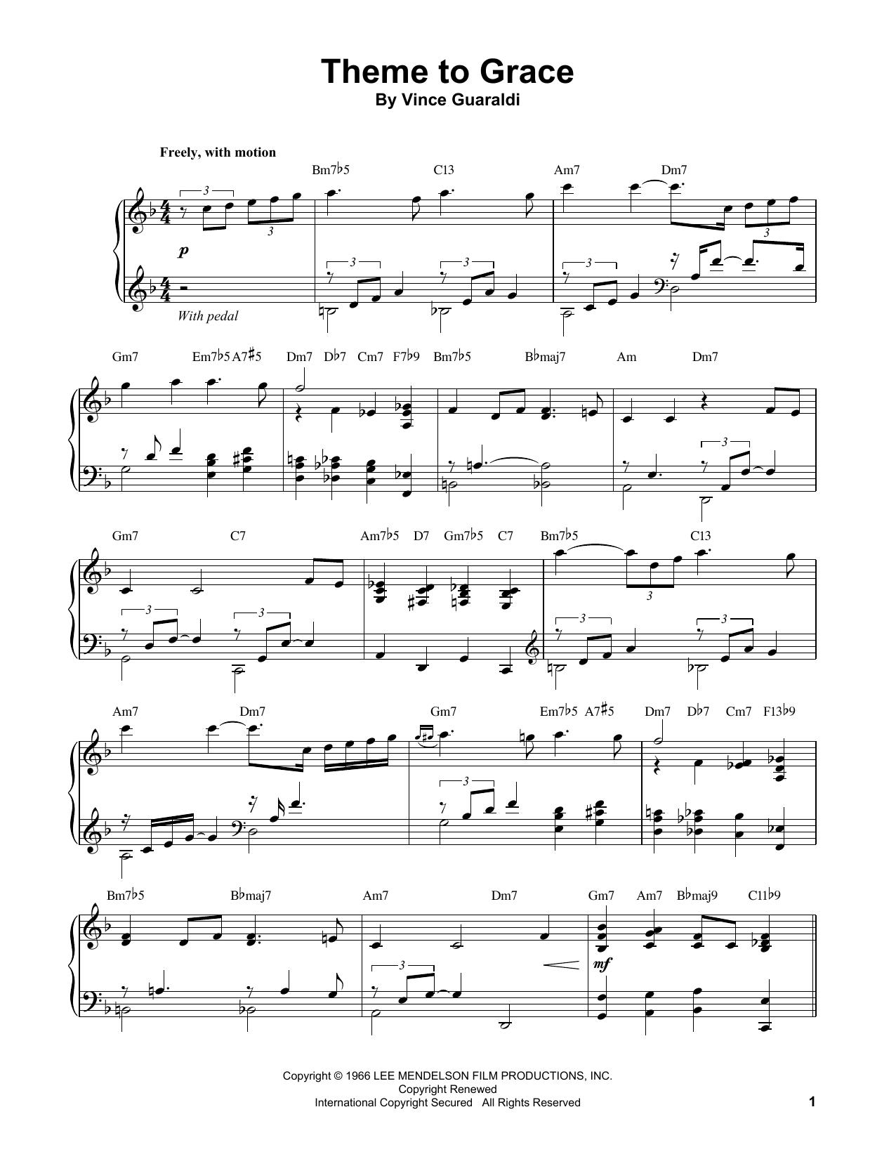 Theme To Grace (Piano Transcription)