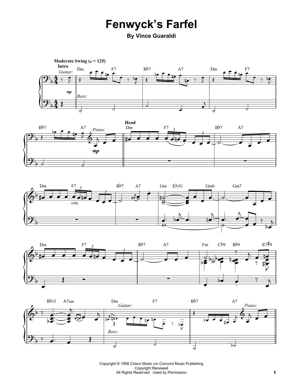 Fenwyck's Farfel (Piano Transcription)
