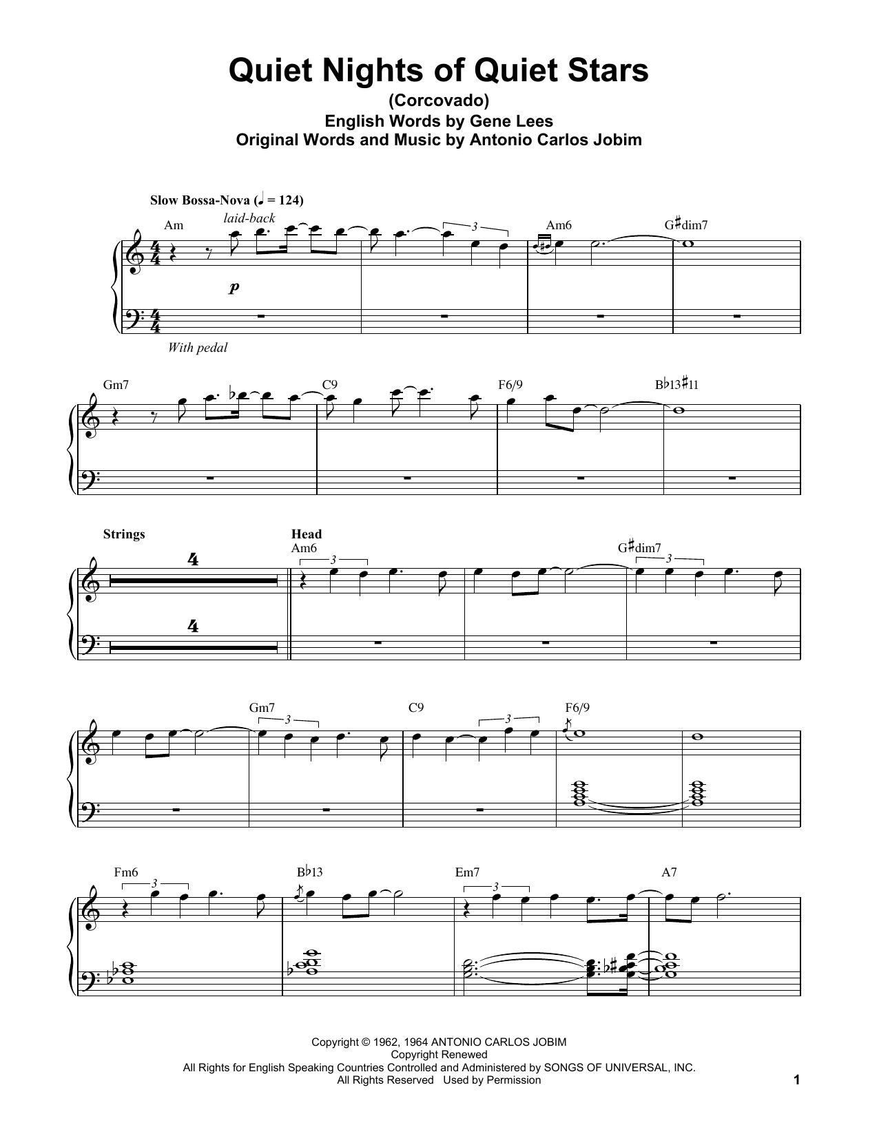 Quiet Nights Of Quiet Stars (Corcovado) (Piano Transcription)