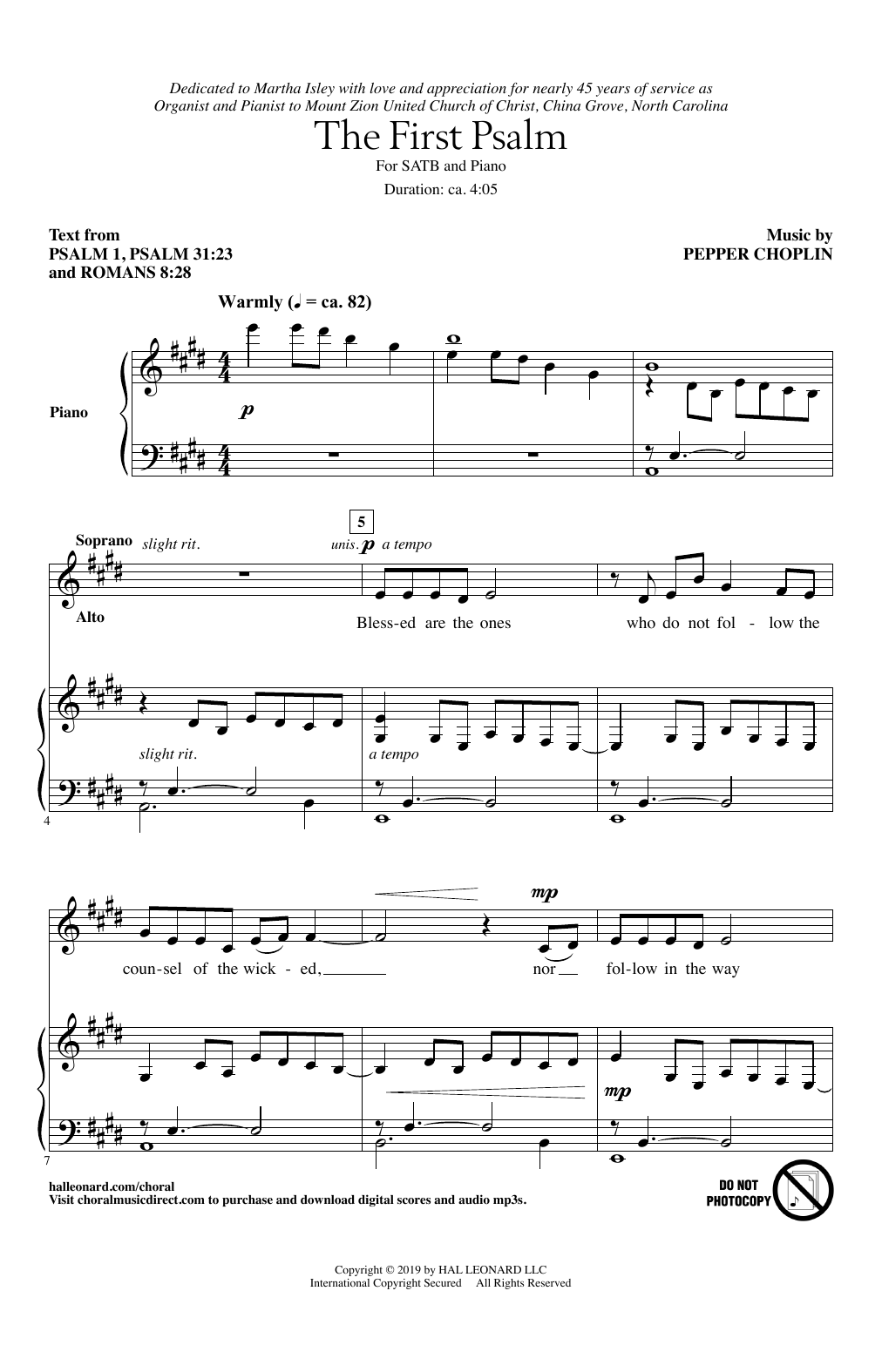 The First Psalm (SATB Choir)