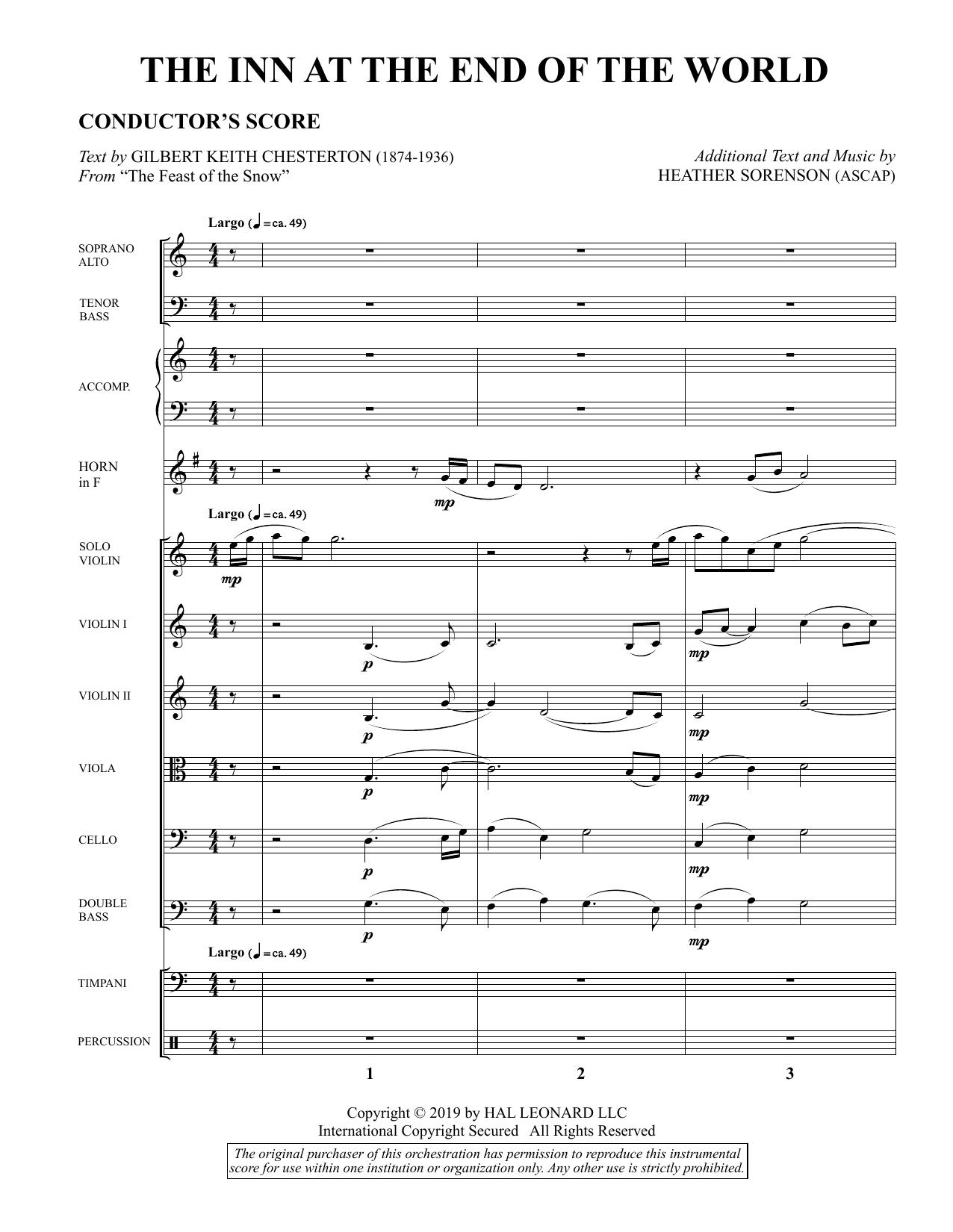 The Inn at the End of the World (arr. Heather Sorenson) - Full Score Sheet Music