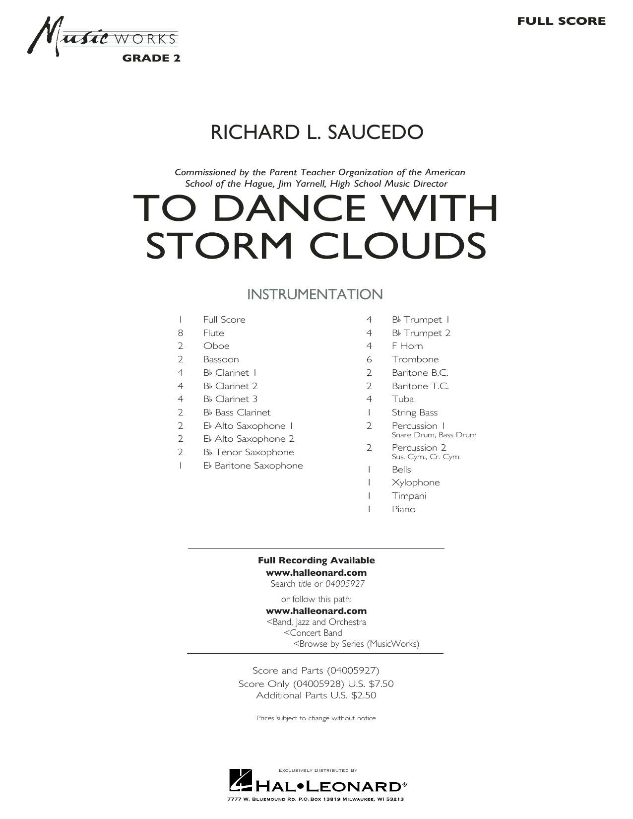 To Dance with Storm Clouds - Full Score (Concert Band)