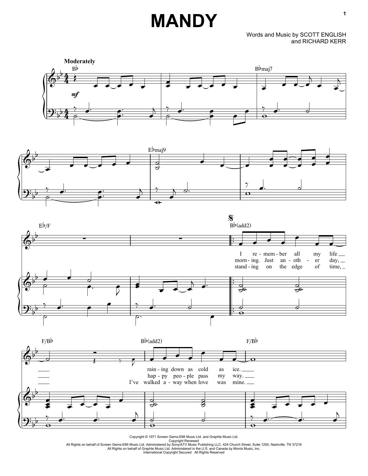 Mandy (Piano & Vocal)