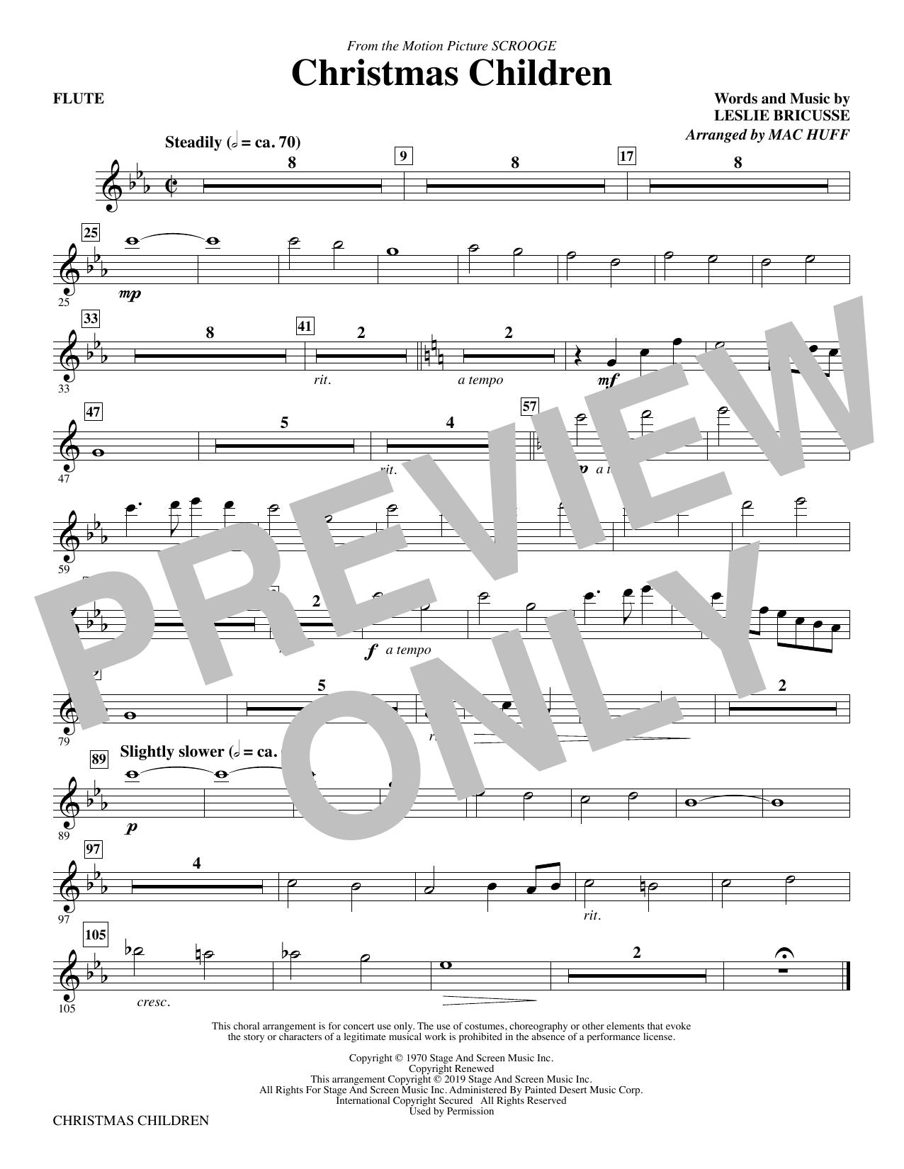 Christmas Children (from Scrooge) (arr. Mac Huff) - Flute (Choir Instrumental Pak)