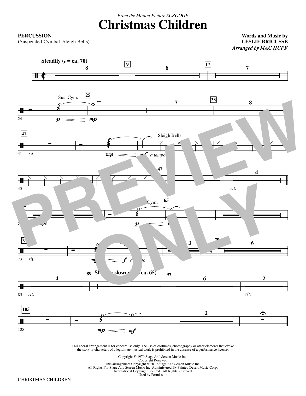 Christmas Children (from Scrooge) (arr. Mac Huff) - Percussion (Choir Instrumental Pak)