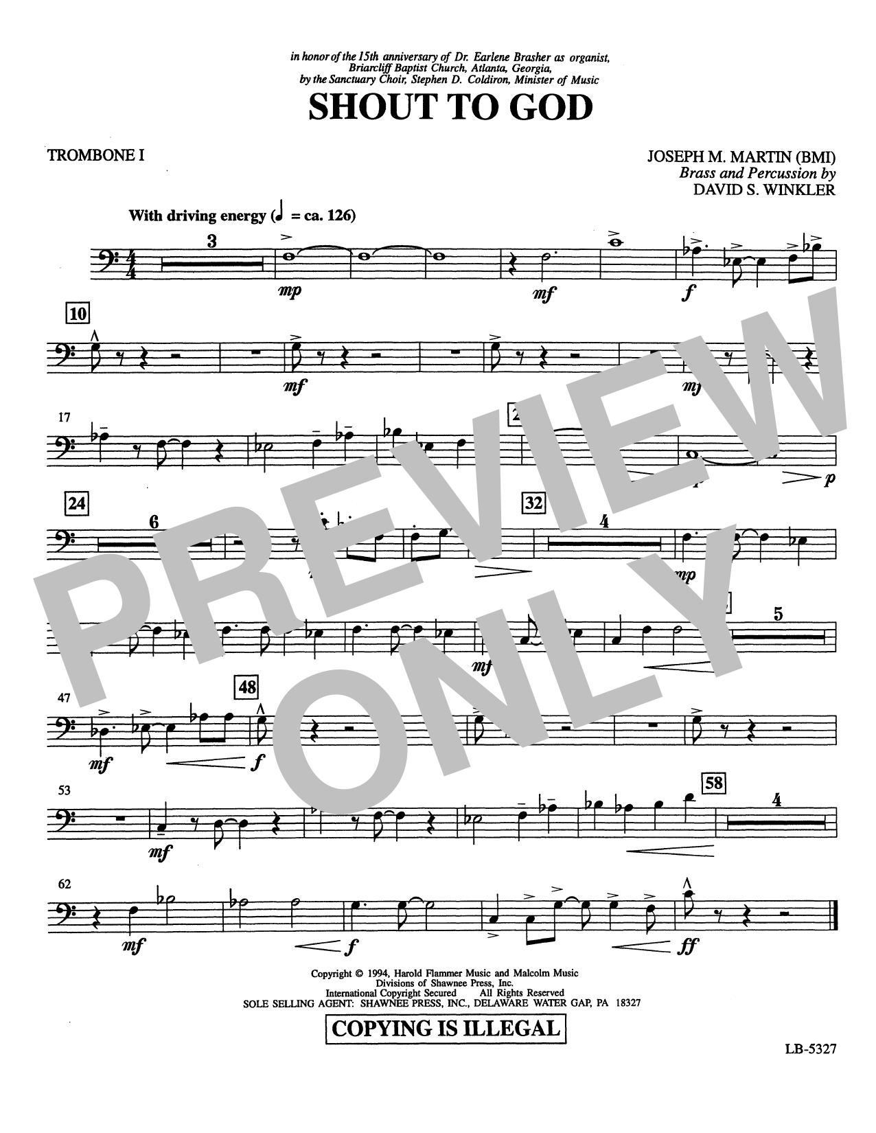 Shout to God - Trombone 1 Partition Digitale