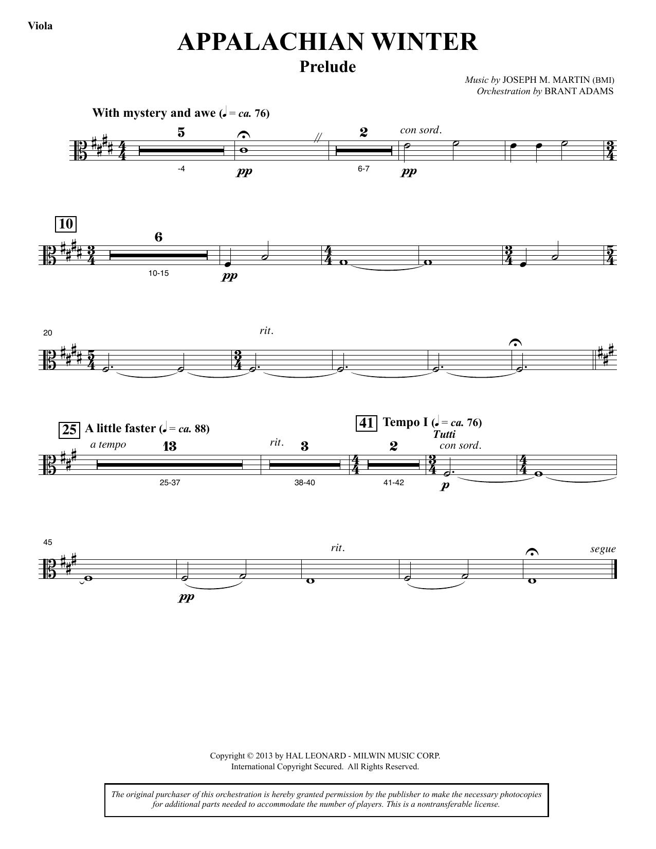 appalachian winter (a cantata for christmas) - viola sheet music | joseph  martin | choir instrumental pak  sheet music direct
